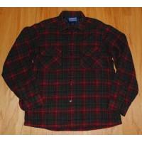 60年代前半 ペンドルトン ウール ボード シャツ 黒-赤 格子柄