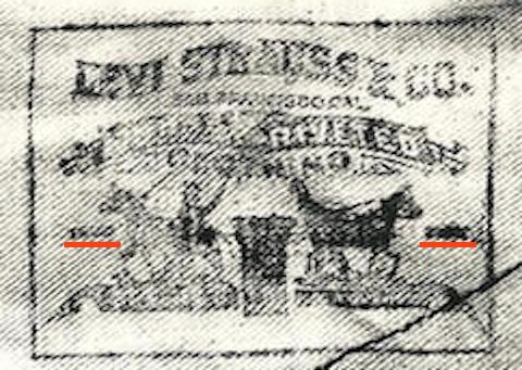 Calicoのポケット布袋のツーホースロゴ