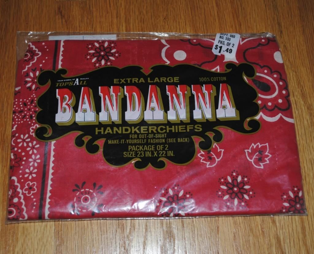 デッドストック 未開封クッキー柄 バンダナ2枚パッケージ