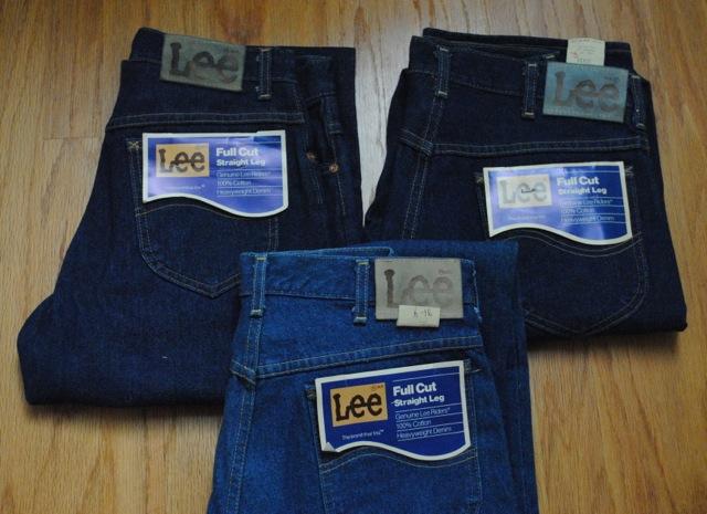 70年代後半-80年代前半 デッドストック Lee 200 ディテール比較