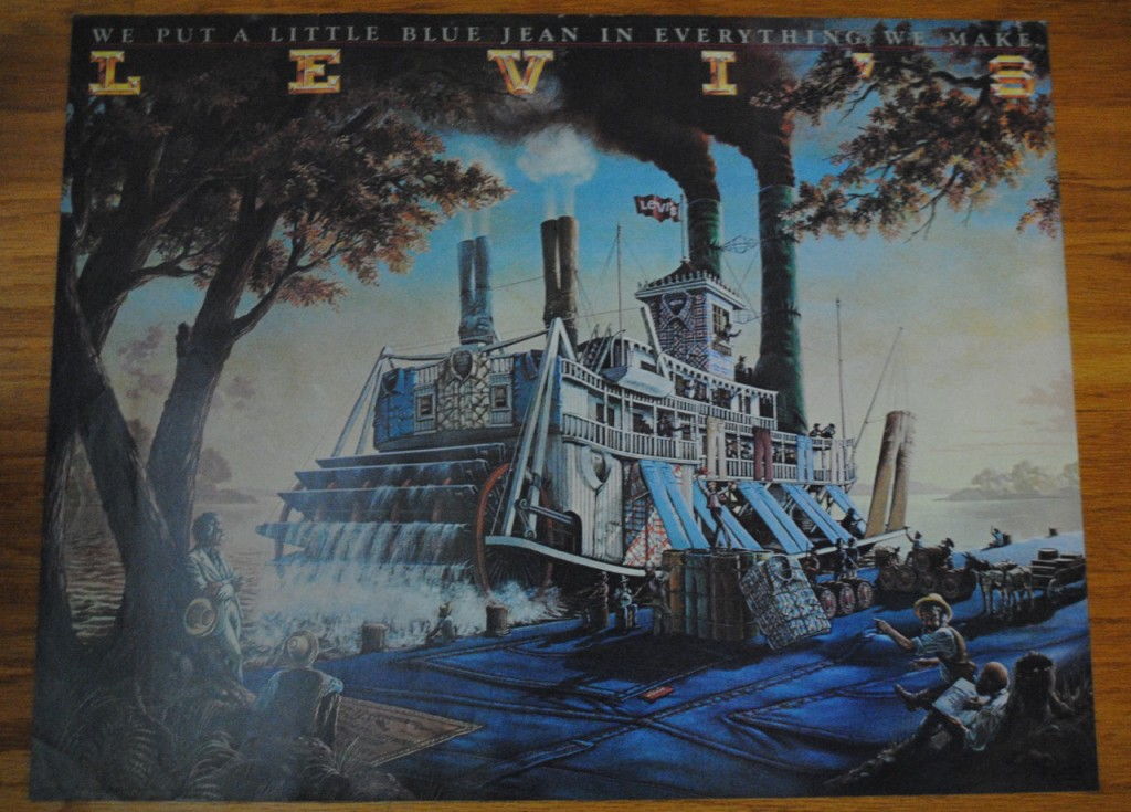 70s Levis Poster Steamboat