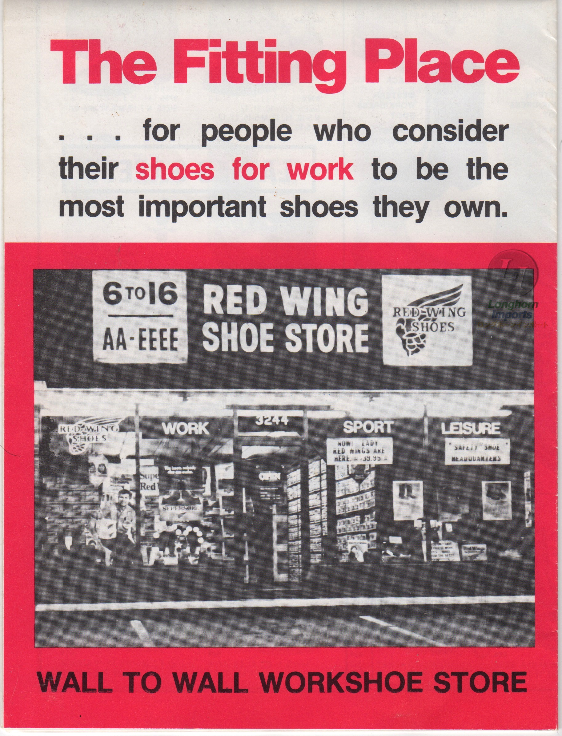 80s Red Wing Catalog for customers
