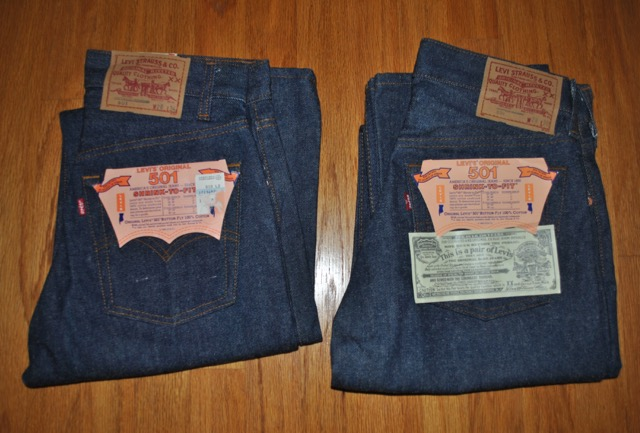 Two Dead Stock 80s Levis 501STF waist 28 inch