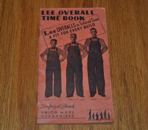 1938 Lee Overall Time Book 表紙