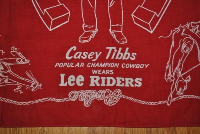 下中央のタイトル 1950年代 Lee バンダナ Casey Tibbs