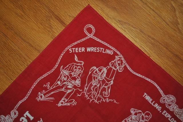 Steer Wrestling 1950年代 Lee バンダナ Casey Tibbs